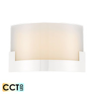 Telbix Solita 35 12w Frost Glass CCT LED Wall Light White