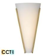 Telbix Saffi 12w Frost Glass CCT LED Wall Light Antique Brass