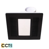 Mercator Aceline Black Exhaust Fan & 14w CCT LED Light