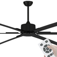 Brilliant Hercules MAX DC Motor 305cm Black & Remote Ceiling Fan