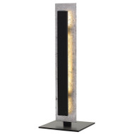 Telbix Serano Metal 9w LED Table Lamp Black & Silver