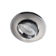 BP 3042A-GF GU10 LED Down Light Gimble Satin Nickel & Chrome