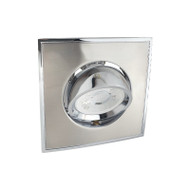 BP 4042A-GF GU10 LED Square Down Light Gimble Satin Nickel & Chrome