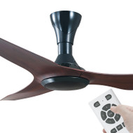 Apollo Launceston DC Motor 140cm Black/Brown & Remote Ceiling Fan