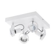 Eglo Novorio 1 4lt Square GU10 LED Spotlight White