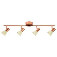 Eglo Glossy 2 4lt LED Spotlight Copper & Champagne