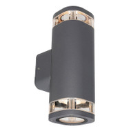 Brilliant Glenelg LED GU10 Exterior Up/Down Wall Light Charcoal