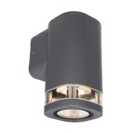 Brilliant Glenelg LED GU10 Exterior Wall Down Light Charcoal