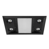 Eglo Inferno 3-in-1 Black Exhaust Fan Light & Heater