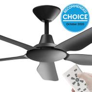 Airborne Storm DC Motor 122cm Black & Remote Ceiling Fan