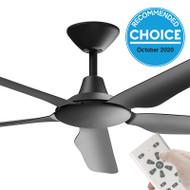 Airborne Storm DC Motor 143cm Black & Remote Ceiling Fan