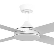 Airborne Breeze Silent 122cm White Plastic Indoor/Outdoor Ceiling Fan