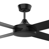 Airborne Breeze Silent 122cm Black Plastic Indoor/Outdoor Ceiling Fan
