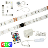 Brilliant 6w X 2.4m LED Modular Strip Kit RGB & Remote