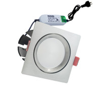 Envirostar Rotary 12w 5000K LED Down Light Square Nickel