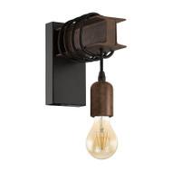Eglo Townshend Antique Steel & Black Wall Light