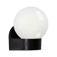 Eglo Lormes Exterior Opal Sphere Wall Light Black