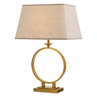 Telbix Brena Antique Gold & Cream Table Lamp