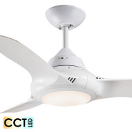 Deka EVO-2 90cm White Plastic Indoor/Outdoor Ceiling Fan & LED Light
