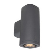 Brilliant Glenelg Plain LED GU10 Exterior Up/Down Wall Light Charcoal