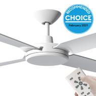Airborne Enviro DC Motor 152cm White & Remote Ceiling Fan