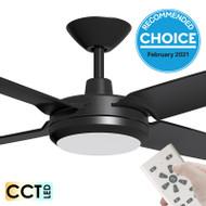 Airborne Enviro DC Motor 132cm Black LED Light & Remote Ceiling Fan