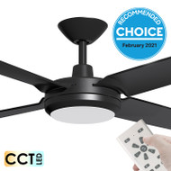 Airborne Enviro DC Motor 152cm Black LED Light & Remote Ceiling Fan