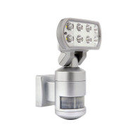 Brilliant Nightwatcher 8w 4200K LED Flood & Tracking Sensor Silver