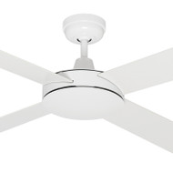 Mercator Caprice 130cm White Motor & Reversible Timber Blades Ceiling Fan