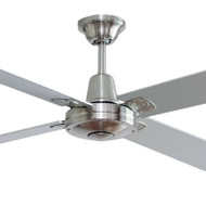 Hunter Pacific Typhoon 132cm Silver Timber Ceiling Fan