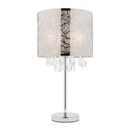 Mercator Ciara Pattern Table Lamp Chrome