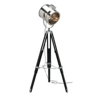 Mercator Bentley Studio Floor Lamp Black & Chrome
