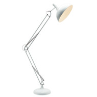 Mercator Chad Reading Floor Lamp White