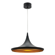 Mercator Aiden 15w LED Hanging Pendant Black