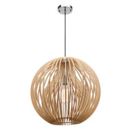 Mercator Sebastian Timber Hanging Pendant Small