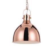 Telbix Market 31 Dome Hanging Pendant Copper