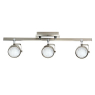 Mercator Ikon 3lt GX53 Fluoro Spotlight Brushed Chrome