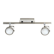 Mercator Ikon 2lt GX53 Fluoro Spotlight Brushed Chrome