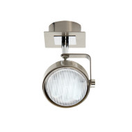 Mercator Ikon 1lt GX53 Fluoro Spotlight Brushed Chrome