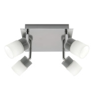 Mercator Haddin 4lt Square LED Spotlight Brushed Chrome
