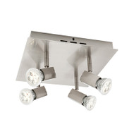 Cougar Titan 4lt Square GU10 LED Spotlight Brushed Chrome