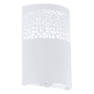 Eglo Carmelia White Metal Pattern Wall Light