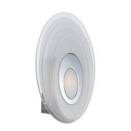 Telbix Elsa Frost Glass LED Wall Light Oval