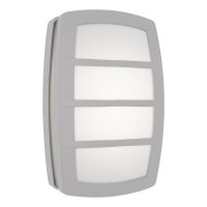 Mercator Daria LED Exterior Wall Light Silver Grill