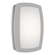 Mercator Daria LED Exterior Wall Light Silver Plain
