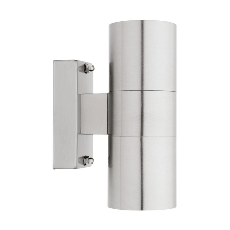 2x Modren Exterior LED Garden Wall Downlight GU10 Stainless Steel Outdoor Light