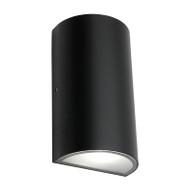 Mercator Brenton Round LED Exterior Up/Down Wall Light Black
