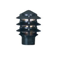 Mercator Pagoda Louvre Garden Post Top Only Black