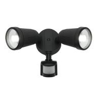 Mercator Otto 2 X 12w LED Exterior Spotlight & Sensor Black
