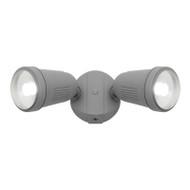 Mercator Otto 2 X 12w LED Exterior Spotlight Silver